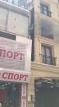 İTFAİYE MERDİVENİ - Fatih'te Otelde Korkutan Yangin