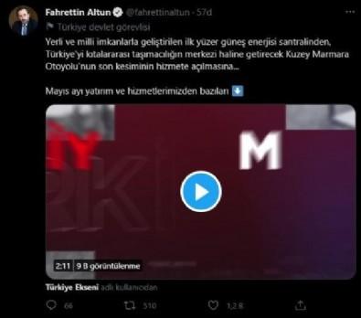 İletişim Başkanı Altun sosyal medyadan paylaştı! İşte Mayıs ayında yapılan yatırım ve icraatlar