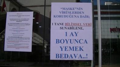 35 Maske Cezasi Yedi, Dükkanina Astigi Yazi Saskina Çevirdi