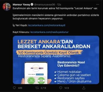 Ankara Büyüksehir'den Esnafa Sifir Komisyonlu 'Lezzet Ankara' Uygulamasi