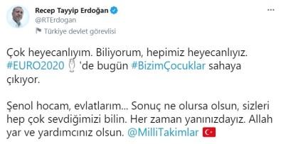Cumhurbaskani Erdogan'dan Millilere Destek Paylasimi