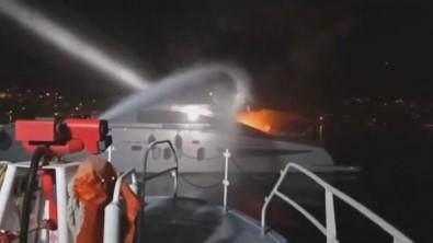 Ingiliz Bayrakli Teknede Çikan Yangin Söndürüldü