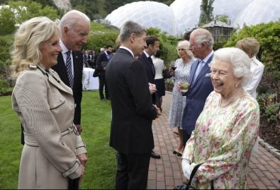 Kraliçe II. Elizabeth, Eden Projesi'ndeki Resepsiyonda G7 Liderlerini Agirliyor