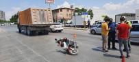 HAFRİYAT KAMYONU - Kamyonun Metrelerce Sürükledigi Elektrikli Bisiklet Sürücünü Feci Sekilde Can Verdi