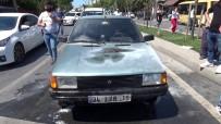 YUNUSEMRE - (ÖZEL) Sultangazi'de Seyir Halindeki Otomobil Yandi