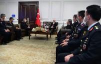 FAILI MEÇHUL - Bakan Soylu, Jandarma Genel Komutani Orgeneral Çetin Baskanligindaki Heyeti Kabul Etti