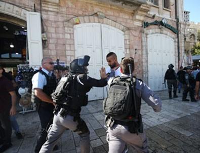 İsrail polisinden Filistinlilere müdahale!