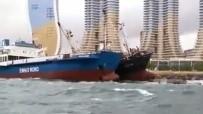 DEMIRLI - Kartal Sahili'nde Halati Kopan Gemi Baska Bir Gemiye Yaslandi