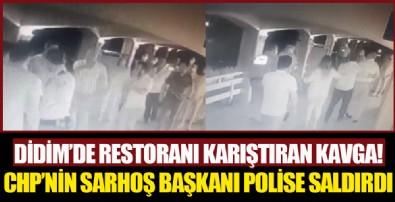 Restoranda kavgaya karışan sarhoş Didim Belediye Başkanı Deniz Atabay polise saldırdı!