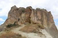 GÖREME - Kapadokya'da Peribacalarina Çirkin Saldiri