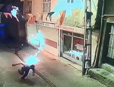 AK Parti İlçe binasına molotoflu saldırı!