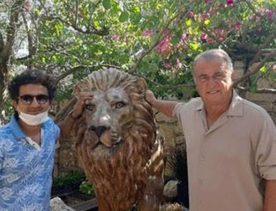 Fatih Terim evine aslan heykeli yaptırdı!