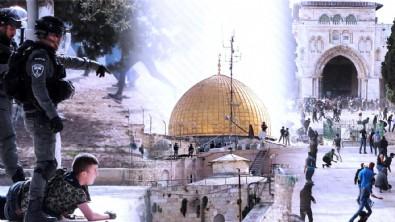 İşgalci İsrail polisinden Filistinlilere müdahale!