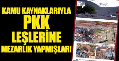 Diyarbakır Dicle'de PKK'lı leşler için belediyenin imkânlarıyla terörist mezarlığı inşa etmişler