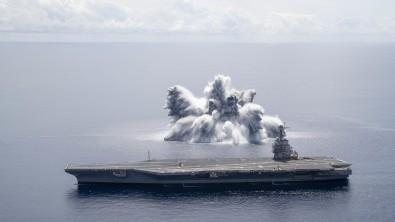ABD Donanmasından 'şok denemesi'! Patlama deprem etkisi yarattı