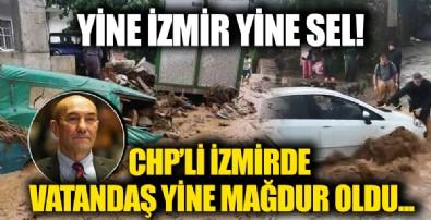 İzmir Ödemiş'i sağanak vurdu! Dere ve çaylar taştı araçlar sürüklendi