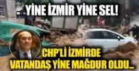 İZMİR  - İzmir Ödemiş'i sağanak vurdu! Dere ve çaylar taştı araçlar sürüklendi