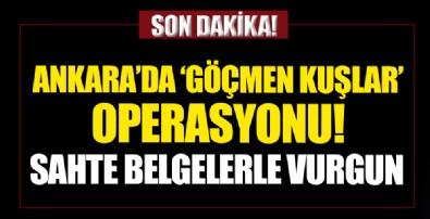Ankara'da 'göçmen kuşlar' operasyonu! Sahte belgelerde büyük vurgun!