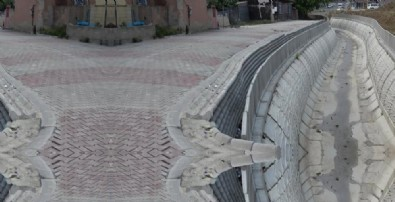 İBB koruma demirlerini yol kenarı yerine derenin içinde kalan kısma koydu