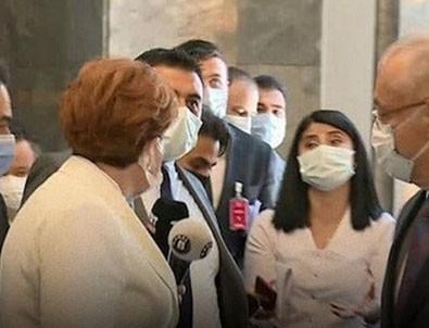 İYİ Parti Genel Başkanı Meral Akşener'e soru sormak isteyen gazetecilere Akşener'in korumaları müdahale etti!