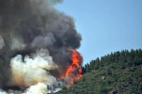 MARMARİS'TEKİ ORMAN YANGINI - Marmaris'teki orman yangınını İHA'lar 57 kilometreden tespit etti!