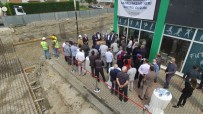 KURBAN KESİMİ - Erenler'in Ilk Kapali Pazar Yerinin Temeli Atildi