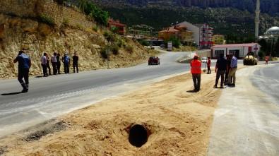 Ermenek'te Sanayi Yoluna Yeni Kavsak Çalismasi