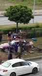 KARADENIZ SAHIL YOLU - Giresun'da Trafik Kazasi Açiklamasi 4 Yarali