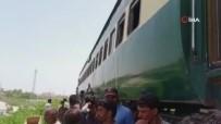 YOLCU TRENİ - Pakistan'da Yolcu Treni Raydan Çikti