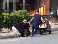 ANNESİNE SALDIRAN ADAM  - Sancaktepe'de sokak ortasında annesini darbetti