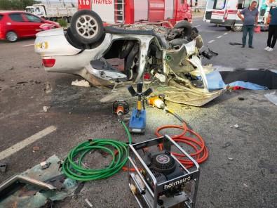 Baskent'te Trafik Kazasi Açiklamasi 1 Ölü, 2 Yarali
