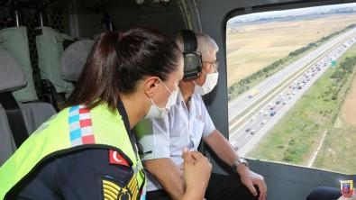 Jandarma Genel Komutani Çetin, Helikopterle Trafik Denetimi Yapti