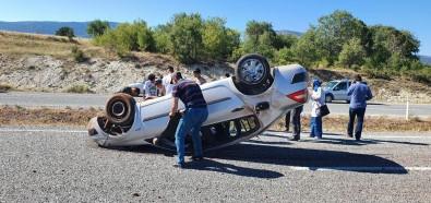 Otomobil Takla Atti Açiklamasi 2 Yarali