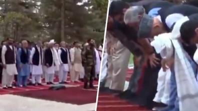 Afganistan'dan gelen görüntüler şok etti! Kurban Bayramı namazı sırasında peş peşe roket attılar