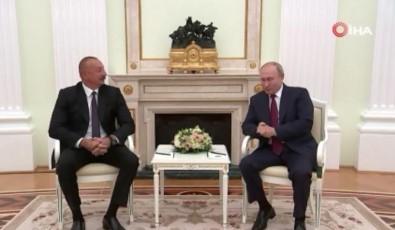 Azerbaycan Cumhurbaskani Aliyev, Rusya Devlet Baskani Putin Bir Araya Geldi