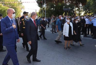 Cumhurbaskani Erdogan, Lefkosa'da Atatürk Aniti'na Çelenk Birakti