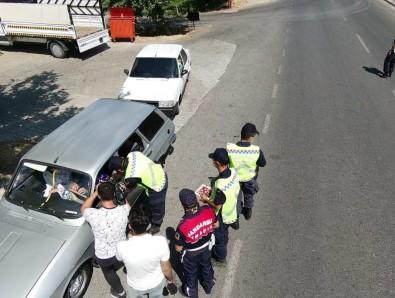 Kahramanmaras'ta Drone Destekli Trafik Denetimi
