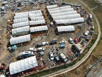 Sultangazi Kurban Pazarinda Hareketlilik Havadan Görüntülendi