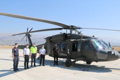 Kahramanmaras'ta Helikopter Ile Havadan Trafik Denetimi