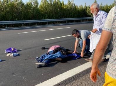 Lastik Degistirirken Tirin Çarptigi Sürücü Öldü