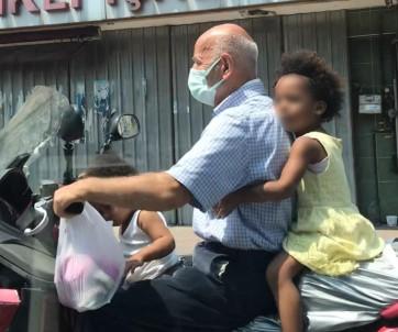 (ÖZEL) Beyoglu'nda Iki Çocukla Tehlikeli Motor Yolculugu