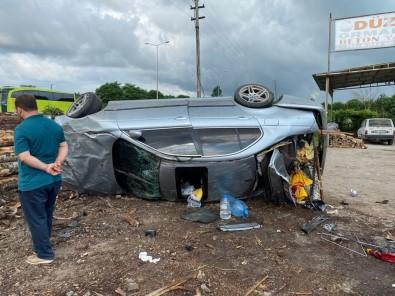Samsun'da Otomobil Takla Atti Açiklamasi 1 Yarali