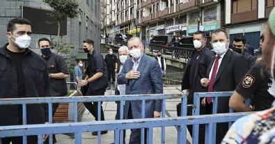 Başkan Erdoğan sel bölgesinde! Vatandaşları dinledi, not aldı