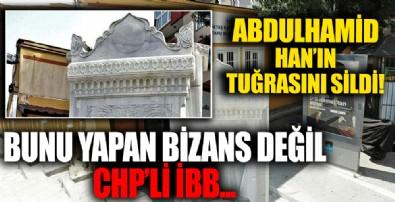 CHP'li İBB restorasyon yapılan Hamidiye Çeşmesi'nden Abdülhamid Han'ın tuğrasını sildi