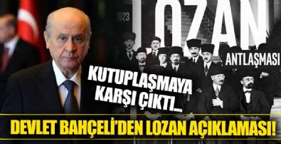 MHP Genel Başkanı Devlet Bahçeli, Lozan Antlaşması hakkında açıklama yayınladı