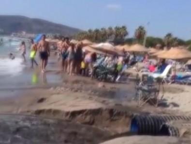 CHP'li Belediyede skandal! Altyapı sorununu çözemeyince lağım sularını denize akıttılar!