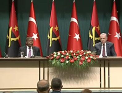Başkan Erdoğan ve Angola Cumhurbaşkanından ortak basın toplantısı!