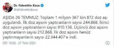Sağlık Bakanı Fahrettin Koca, 'Aşıda 26 Temmuz' diyerek duyurdu...