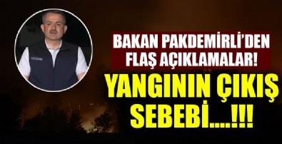 Bakan Pakdemirli flaş Manavgat açıklaması!