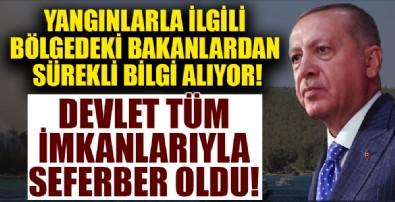 Başkan Erdoğan orman yangınlarını yakından takip ediyor!